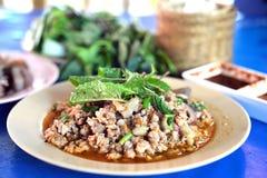 Würziger Salat des Schweinefleisch Lizenzfreie Stockfotos