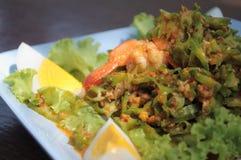 Würziger Salat mit Winged Bohne Stockbild