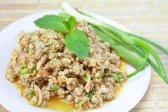 Würziger Schweinefleisch-Salat Stockfoto
