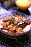Würziges Fischeintopfgericht stockfotografie