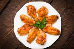 Würziges gebackenes Huhn Stockbild