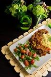 Würziges Hühnerselbst gemachter Abendessenteller Lizenzfreie Stockfotografie