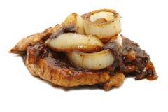 Würziges Huhn mit Zwiebel lizenzfreie stockfotos