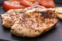 Würziges Huhn-Steak lizenzfreies stockbild