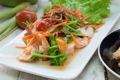 Würziges Salateinheimischlebensmittel Stockfoto