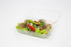 Würziges sehr köstliches des roten Paprikas des Tapiokaschweinefleisch Stockfoto