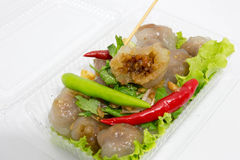 Würziges sehr köstliches des roten Paprikas des Tapiokaschweinefleisch Lizenzfreies Stockbild
