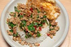 Würziges und köstliches thailändisches Lebensmittel Stockbild