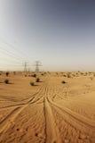 Wüste außerhalb Dubais Stockbilder