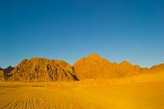 Wüste bei Sonnenuntergang stockfotografie