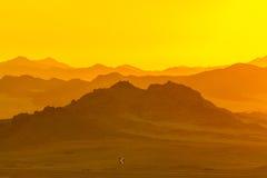 Wüste an der Dämmerung Lizenzfreie Stockfotos