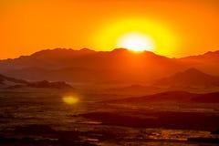 Wüste an der Dämmerung Stockfoto