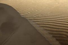 Wüste mit Bahnen im Sand Lizenzfreies Stockfoto