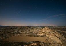 Wüste nachts Stockfotografie