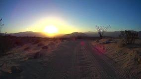 Wüste nicht für den Straßenverkehr - Guss-Punkt 5 Wüste Ca Anza Borrego stock video