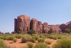 Wüste südwestlich der USA Abnutzung des Sandsteins schaukelt in das Tal von Monumenten, Arizona stockfoto