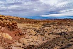 Wüste südwestlich der Utah-Wüste lizenzfreies stockbild