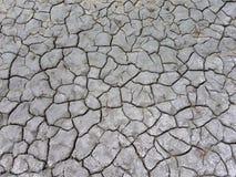Wüste, Sprünge in der trockenen grauen Erde Stockfoto