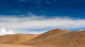 Wüste in Tibet-Hochebene Stockbild