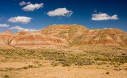 Wüste und Berge Stockfoto