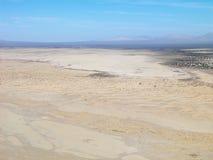 Wüste und Gebirgszug Stockfoto