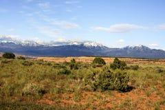 Wüste und Schnee Lizenzfreies Stockbild