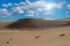 Wüste und Sonnenlicht Lizenzfreies Stockfoto