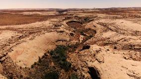 Wüste in Utah, USA Szenische Landschaft Natur, Geologie, Umwelt von Utah Ansicht von oben, Vogelperspektive, Brummenschuß stock video
