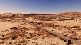 Wüste in Utah, USA Szenische Landschaft Natur, Geologie, Umwelt von Utah Ansicht von oben, Vogelperspektive, Brummenschuß stock video footage