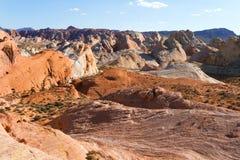 Wüste von Süd-Nevada, Tal des Feuers Lizenzfreie Stockfotos