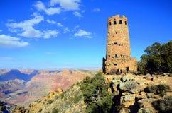 Wüsten-Ansicht-Wachturm in Grand Canyon -Südkante Stockfotos