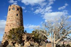 Wüsten-Ansicht-Wachturm in Grand Canyon -Südkante, Arizona, US Stockfoto