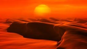 Wüsten-Dünen (Schleife) stock video