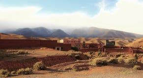 Wüsten-Dorf stockbild