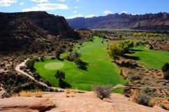 Wüsten-Golfplatz Stockbilder