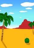Wüsten-Landschaft lizenzfreies stockbild