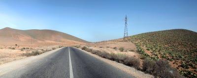 Wüsten-Landstraße Stockfotografie