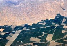 Wüsten-Landwirtschaft in Kalifornien Lizenzfreie Stockfotos