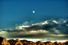 Wüsten-Mond stockbilder