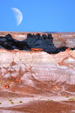 Wüsten-Mond Lizenzfreie Stockfotos