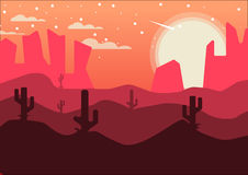Wüsten-Nachmittags-Hintergrund Lizenzfreies Stockfoto