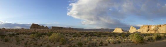 Wüsten-Panorama Stockfotografie