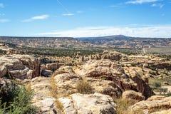 Wüsten-Panorama Stockfoto