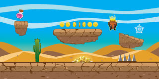 Wüsten-Plattform-Spiel-Hintergrund Lizenzfreies Stockfoto