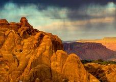 Wüsten-Regen Lizenzfreie Stockfotos