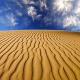 Wüsten-Sanddünen Stockfoto