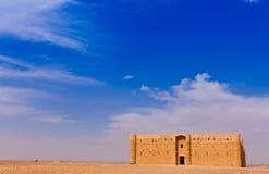 Wüsten-Schloss/Qasr Al Harraneh Stockfoto