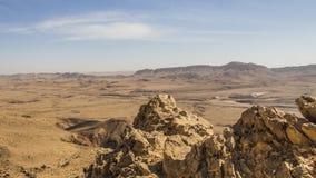 Wüsten-Schwingungen während des israelischen Winters Lizenzfreies Stockbild