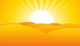 Wüsten-Sommer-Landschaftsplakat-Hintergrund Lizenzfreie Stockfotografie