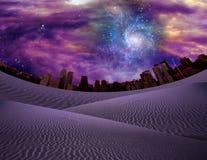 Wüsten-Stadt lizenzfreie abbildung